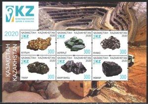 Kazakhstan. 2020. bl 133. Geology, minerals. MNH.