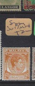 SINGAPORE  (PP2901B)  KGVI  2C  SG 17   MNH