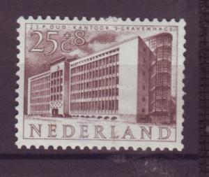 J15700 JLstamps 1955 netherlands hv of set mh #b280 building