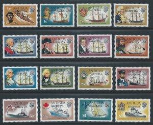 Barbuda #113-27,129 NH Ship Defins Ovpt. Barbuda (Missing 128)