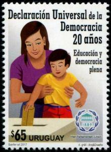 HERRICKSTAMP NEW ISSUES URUGUAY Universal Declaration of Democracy