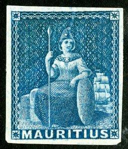 Mauritius Stamps # 18 Unused VF Deep color Scott Value $800.00
