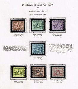 ITALY VATICAN CITY MH/OG STAMPS COLLECTION LOT #1  1929 Pope Pius XI