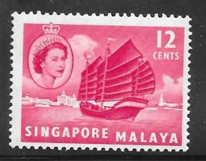 Singapore 35: 12c Hainan junk, MH, F-VF
