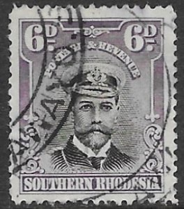 Southern Rhodesia   7  1924  6 d    fine used