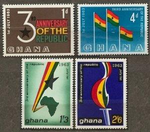 1963 Ghana 149-152 3st Anniversary of the Republic