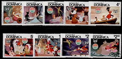 Dominica 679-87 MNH Disney, Christmas, Peter Pan, Horse, Animals