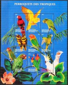 Congo 2000 Birds sheet  MNH