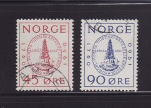 Norway 380-381 Set U Seal (A)