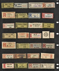 STAMP STATION PERTH - Registration Labels #Selection 51 Used  - Unchecked