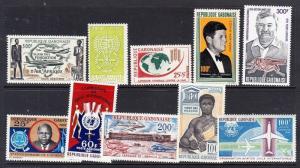 Gabon - group of 10 mint NH sets (Catalog Value $34.00)