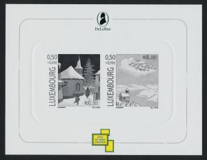 Luxembourg B435 Proof Sheet MNH Christmas