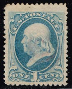 US STAMP # 182 1c 1879 American Bank Note Used stamp XFS SUPERB LARGE TOP