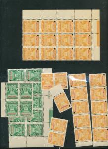 Costa Rica Specimens MNH Blocks (90 Stamps) (AC 1021