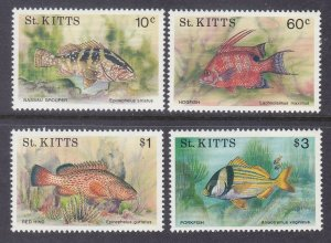 St. Kitts 320-23 MNH 1991 Various Fish Full 4 Stamp Set Very Fine