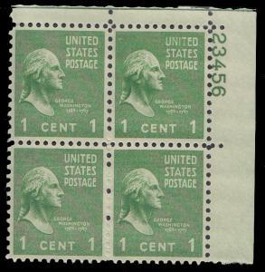 United States 804 Plate Block MNH
