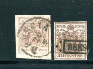 Austria Lombardy #5c  pale brown VF