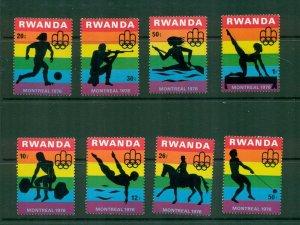 Rwanda  #762-69  (1976 Olympics set) VFMNH CV $4.00