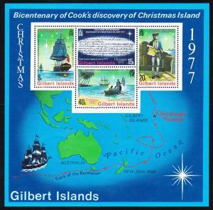 303a Gilbert Islands 1977 Capt. Cook SS MNH