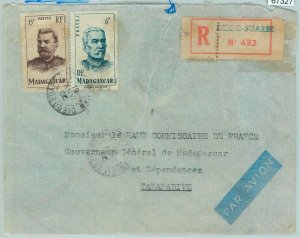67327 -   MADAGASCAR - Postal History - Registered COVER from DIEGO SUAREZ 1951