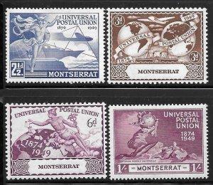 Montserrat 108-111: 75th Anniversary of UPU, MH, F-VF