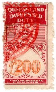 (I.B) Australia - Queensland Revenue : Impressed Duty £200