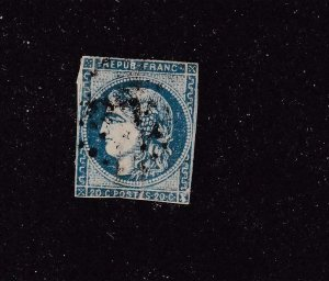 FRANCE # 44A LIGHT USED IMPERF CAT VALUE $85