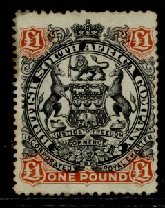 RHODESIA QV SG73, £1 black and red-brown/green, M MINT. Cat £450.