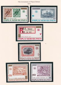 Papua New Guinea # 389-394, Postage Stamps 75th Anniversary, NH, 1/2 Cat.
