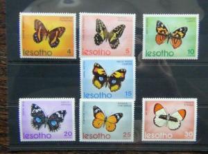 Lesotho 1973 Butterflies set MNH