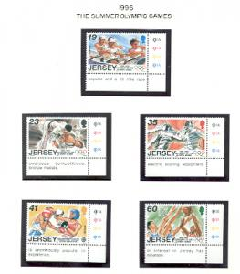 Jersey  Sc 755-9 1996 Atlanta Olympics stamp set mint NH
