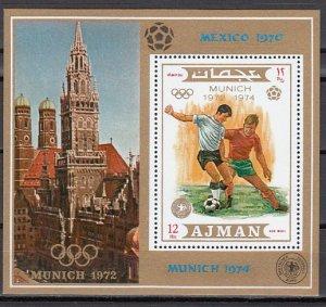 Ajman, Mi cat. 1245, BL337 A. World Cup Soccer s/sheet.^