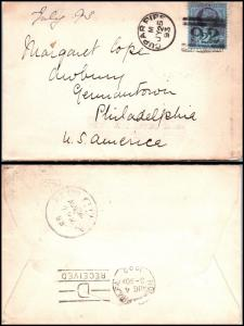 Goldpath: England cover 1893, to U.S.A. _CV15_P9