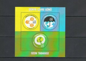 TURKEY:+BUY NOW+ Sc 3499 / **WORLD ENVIRONMENT DAY** / SHEET OF 3 / MNH.
