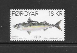FISH - FAROE ISLANDS #704  MNH