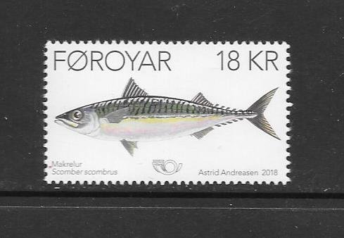 FISH - FAROE ISLANDS #704  MNH