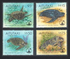 Aitutaki Turtle Year of the Sea 4v SG#690-693