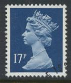 Great Britain SG X910 Sc# MH98    Used with first day cancel - Machin 17p