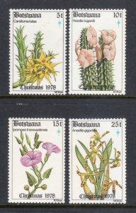 BOTSWANA 221-4 MNH VF Flowers - Xmas 1978 Complete set