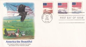 1981, America the Beautiful, Fleetwood, FDC (E12260)