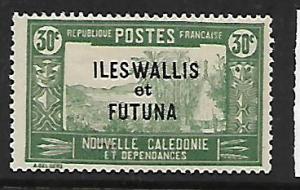 WALLIS ET FUTUNA  52  MINT HINGED,  NEW CALEDONIA STAMP OVERPRINTED