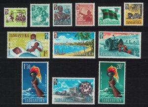 Tanganyika Lions Flag Tractor Medicine Education Definitives 12v SG#108-119