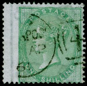SG73, 1s pale green, FINE USED, CDS. Cat £350.