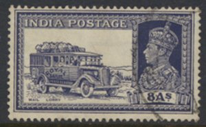 India 1937   Sc 160 Mail Lorry  8A  Used see scan and details