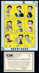 Stamps Chad 856-8 Betty Boop Mint Nh Up-To-Date Styling Animation, Cartoons