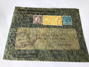 Peru to Manchester italian lima bank stamps cover   Ref R28584