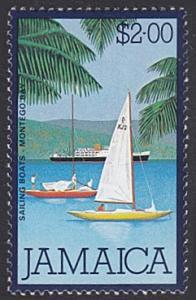 Jamaica # 481 mnh ~ $2 Sail Boats