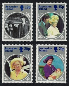 Ascension Life and Times of the Queen Mother 4v 1985 MNH SG#376-379