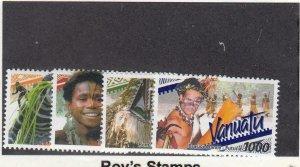 VANUATU (MK7244) # 788-791 VF-MNH  2001 CEREMONIAL DANCERS -TYPE OF 1999  CV $29