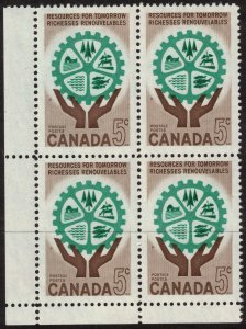 Canada - Resources for Tomorrow 1961 SC395 Mint Block  NH